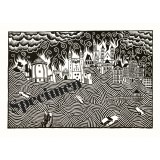 Linocut Donwood, Apocalypse Maastricht - Shipping around the WORLD